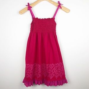 American Girl Sundress with smocking Size 8